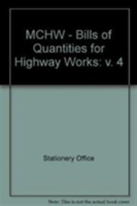 Manual of Contract Documents for Highway Works - Stationery Office - cover