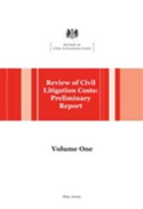 Review of Civil Litigation Costs: Preliminary Report - cover