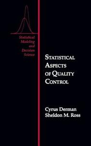Statistical Aspects of Quality Control - Cyrus Derman,Sheldon M. Ross - cover