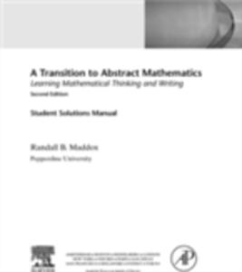 Ebook in inglese Student Solutions Manual for A Transition to Abstract Mathematics Maddox, Randall
