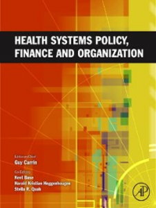 Ebook in inglese Health Systems Policy, Finance, and Organization -, -