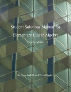 Foto Cover di Elementary Linear Algebra, Students Solutions Manual, Ebook inglese di Stephen Andrilli,David Hecker, edito da Elsevier Science