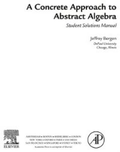 Ebook in inglese Concrete Approach To Abstract Algebra Bergen, Jeffrey