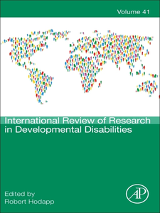 Ebook in inglese International Review of Research in Developmental Disabilities -, -