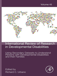 Ebook in inglese Using Secondary Datasets to Understand Persons with Developmental Disabilities and their Families -, -