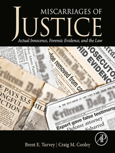 Ebook in inglese Miscarriages of Justice Cooley, Craig M , Turvey, Brent E.