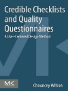 Ebook in inglese Credible Checklists and Quality Questionnaires Wilson, Chauncey