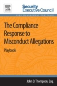 Ebook in inglese Compliance Response to Misconduct Allegations Thompson, John D.