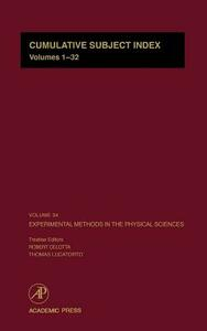 Experimental Methods in the Physical Sciences - cover