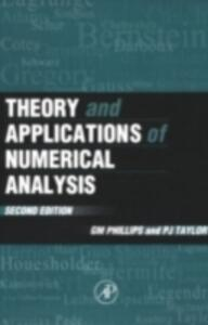 Theory and Applications of Numerical Analysis - cover