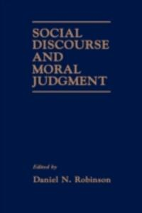 Social Discourse and Moral Judgement - cover