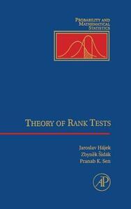 Theory of Rank Tests - Zbynek Sidak,Jaroslav Hajek,Pranab Kumar Sen - cover