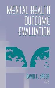 Mental Health Outcome Evaluation - David C. Speer - cover