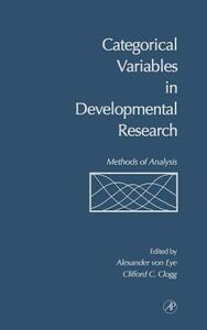 Categorical Variables in Developmental Research: Methods of Analysis - cover