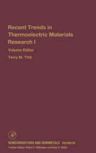 Advances in Thermoelectric Materials I - cover