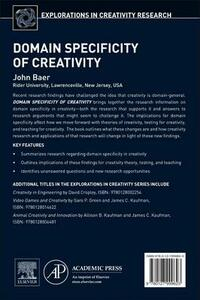 Domain Specificity of Creativity - John Baer - cover