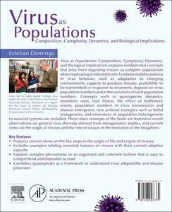 Virus as Populations: Composition, Complexity, Dynamics, and Biological Implications - Esteban Domingo - cover