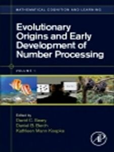 Ebook in inglese Evolutionary Origins and Early Development of Number Processing