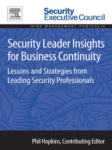 Ebook in inglese Security Leader Insights for Business Continuity