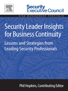Ebook in inglese Security Leader Insights for Business Continuity -, -