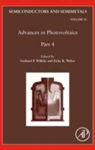 Advances in Photovoltaics: Part 4 - cover