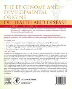 The Epigenome and Developmental Origins of Health and Disease - Cheryl Rosenfeld - cover