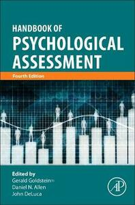 Handbook of Psychological Assessment - Allen,Goldstein - cover