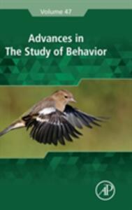 Advances in the Study of Behavior - cover