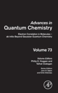 Electron Correlation in Molecules - ab initio Beyond Gaussian Quantum Chemistry - cover