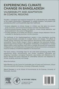Experiencing Climate Change in Bangladesh: Vulnerability and Adaptation in Coastal Regions - Salim Momtaz,Masud Shameem - cover