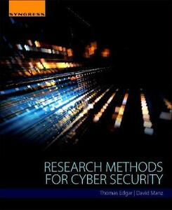 Research Methods for Cyber Security - Thomas W. Edgar,David O. Manz - cover