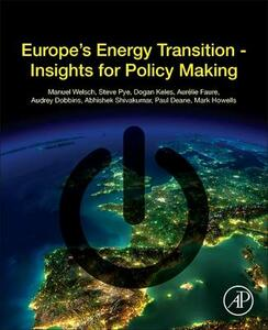 Europe's Energy Transition: Insights for Policy Making - Welsch Manuel - cover