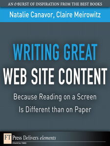 Ebook in inglese Writing Great Web Site Content Canavor, Natalie , Meirowitz, Claire