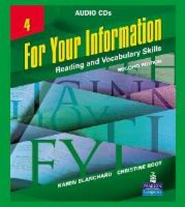 For Your Information 4: Reading and Vocabulary Skills - Karen Louise Blanchard,Christine Baker Root - cover
