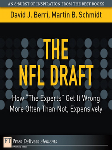 Ebook in inglese The NFL Draft Berri, David , Schmidt, Martin