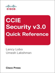 Ebook in inglese CCIE Security v3.0 Quick Reference Lakshman, Umesh , Lobo, Lancy