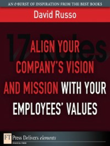 Ebook in inglese Align Your Company's Vision and Mission with Your Employees' Values Russo, David