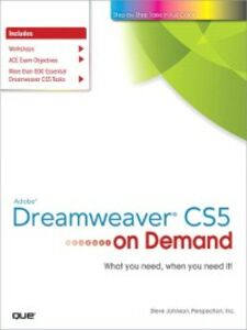 Ebook in inglese Adobe® Dreamweaver® CS5 on Demand Inc., Perspection , Johnson, Steve