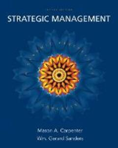 Strategic Management: Concepts - Mason Carpenter,Gerry Sanders - cover