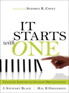 Foto Cover di It Starts with One, Ebook inglese di J. Stewart Black,Hal Gregersen, edito da Pearson Education