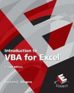Introduction to VBA for Excel - Steven C. Chapra - cover