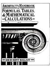 Architect's Handbook of Formulas, Tables, & Mathematical Calculations