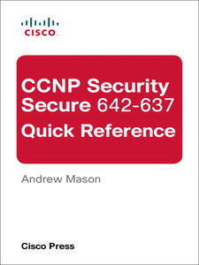 Ebook in inglese CCNP Security Secure 642-637 Quick Reference Mason, Andrew