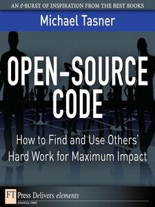 Ebook in inglese Open-Source Code Tasner, Michael
