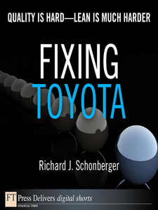 Ebook in inglese Fixing Toyota Schonberger, Richard J.