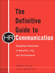 Ebook in inglese The Definitive Guide to HR Communication Davis, Alison , Shannon, Jane