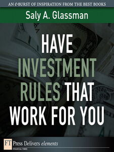 Ebook in inglese Have Investment Rules That Work for You Glassman, Saly A.