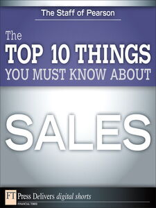 Ebook in inglese The Top 10 Things You Must Know About Sales Education, Pearson