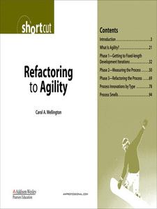 Ebook in inglese Refactoring to Agility (Digital Shortcut) Wellington, Carol A.
