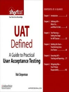 Ebook in inglese UAT Defined Cimperman, Rob